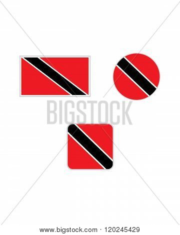 Vector Trinidad Flag and Icon Set