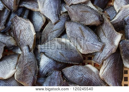 Dried Fish was sold in the bazaar.
