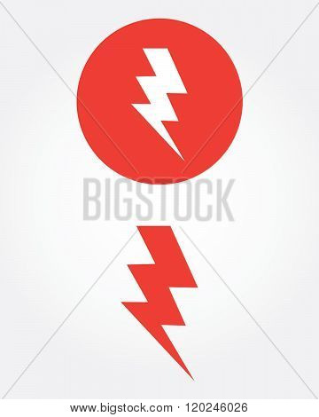 A collection of vector thunder bolt symbols