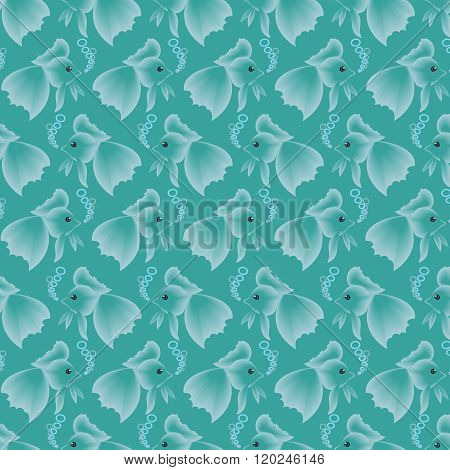 Seamless Pattern With Fishes