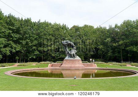 Fryderyk Chopin Statue in Warsaw