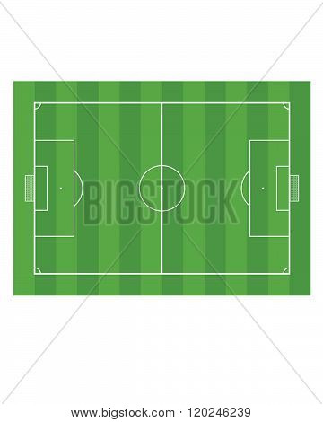 A vector illustration of a soccer pitch