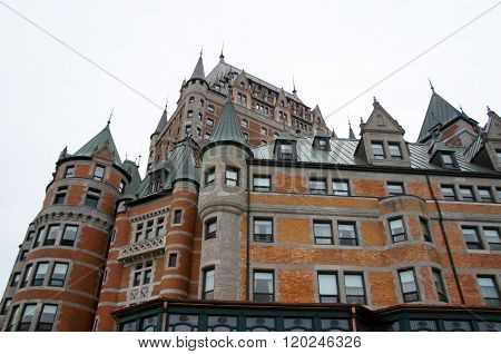 Hotel Chateau Frontenac Castle in Quebec