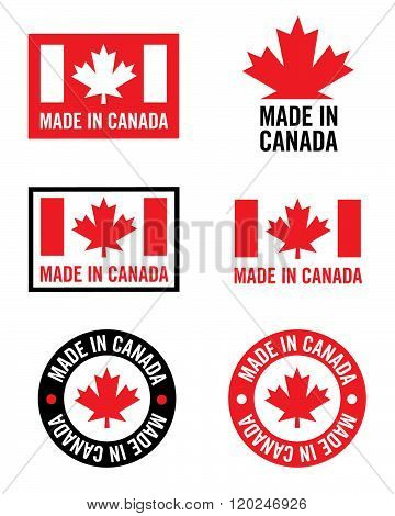 A collection of Made in Canada Symbols and Icons