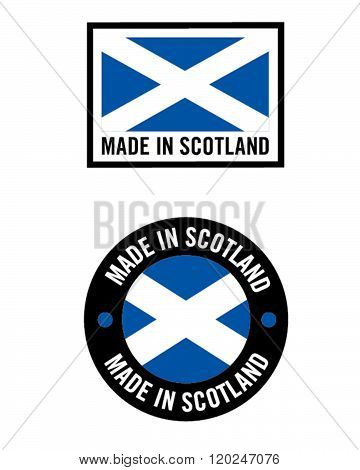 Vector Made in Scotland Icon and Logo Set