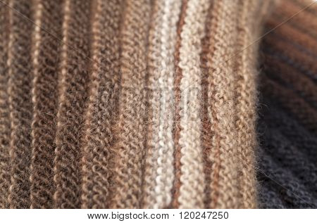 Two-sided Ribbed Knitted Scarf