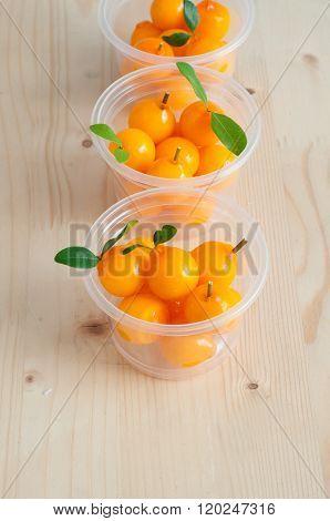 Delectable Imitation Fruits , Thai National Dessert.