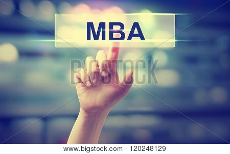 Mba Concept With Hand Pressing A Button
