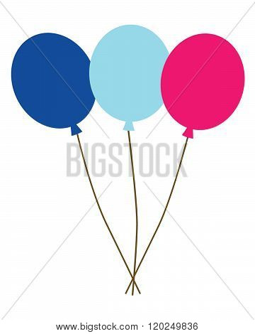 A set of colourful ballons