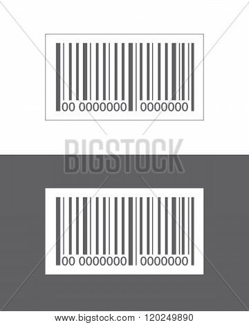 Vector bar code set isolated on both a white and dark background
