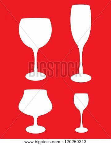 Vector bar glass set