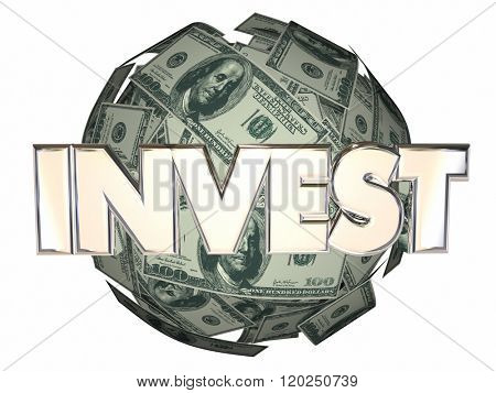 Invest Money Cash Stock Market Wall Street Dollar Sphere
