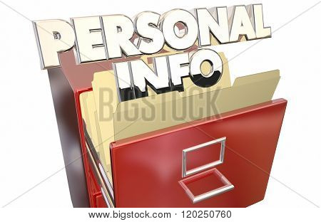 Personal Info File Folder Cabinet Sensitive Secret Private Data