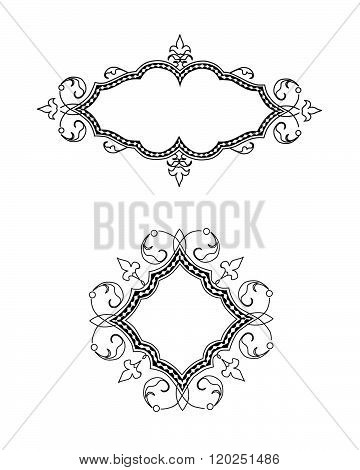 A set of traditional ornate vector frames