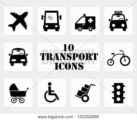 Transportation Icons ( Set Of 10 Icon )