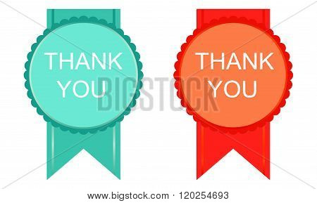 Thank You Abstract  Style Badges Or Icons