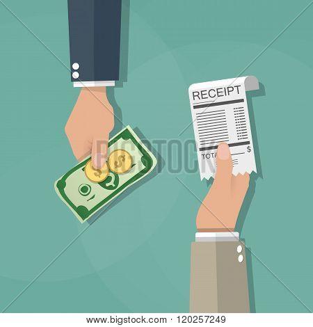 cash payments concept
