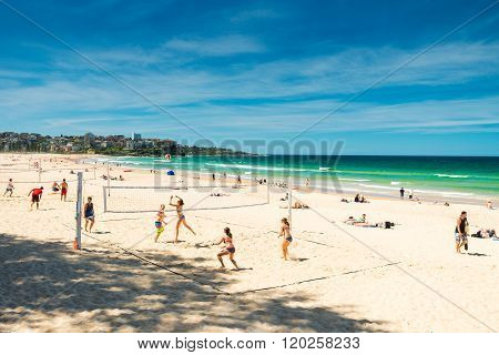 People On Manly Beach