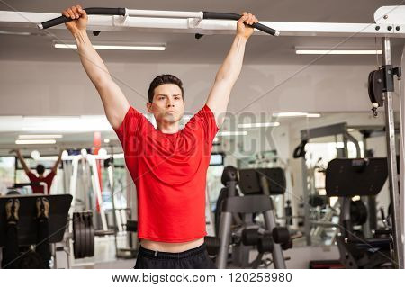 Man Working Out With His Own Weight
