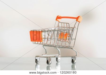 Empty Shopping Cart In A Market