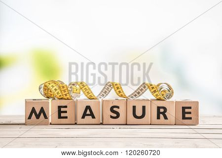 Measure Word On A Wooden Table