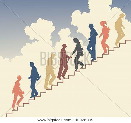 Treppe-Wanderer