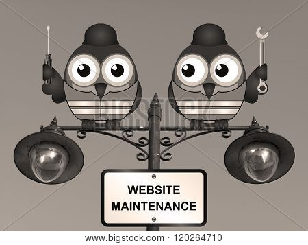 Sepia Website Maintenance