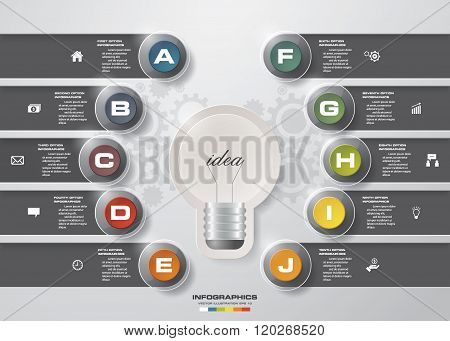 Infographic design template and business concept with 10 options.