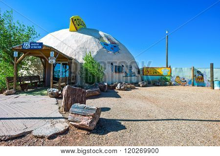 Meteor City, U.S.A. - May 24, 2011: Arizona, a roadside attraction on the Route 66.