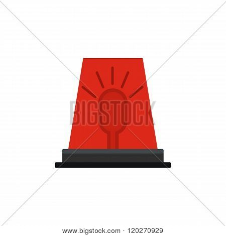 Siren red flashing emergency light icon