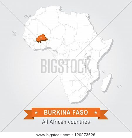 Burkina Faso. All the countries of Africa.