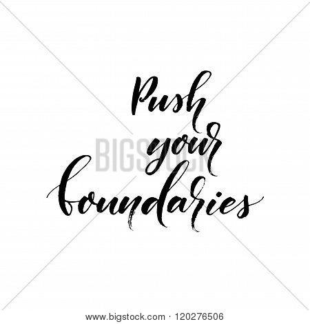 Push Your Boundaries Card.