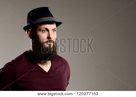 Tattooed Bearded Hipster Guy