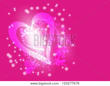Pink blurred light background