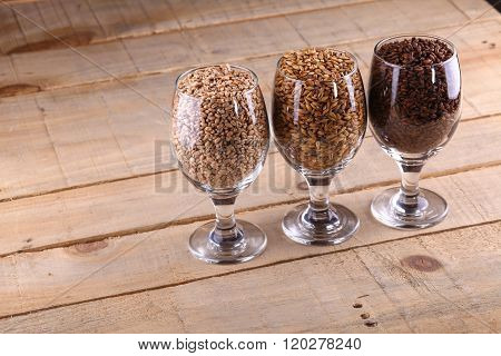 Malts In Glasses