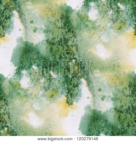 unique abstract seamless watercolor color yellow green pattern painting brush watercolour background