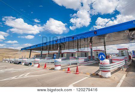 Checkpoint close to Ulaanbaatar