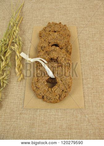 Oat chocolate cookie kringle