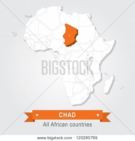 Chad. All the countries of Africa.