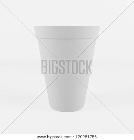 polystyrene party cup or disposable cup with clipping path