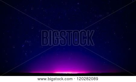 Natural Clear Night Starry Sky Stars Background And Night City L