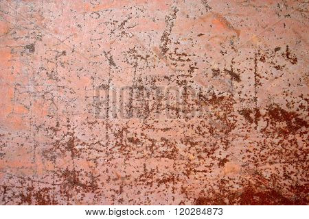 texture of an old, scratched rusty metal