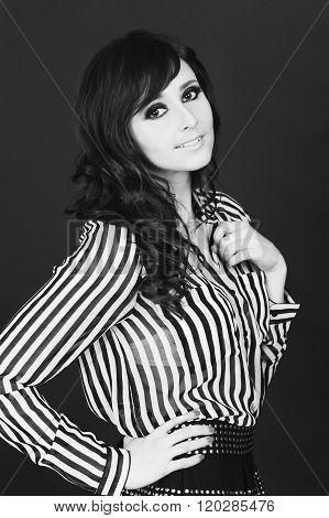 Smiling stylish girl