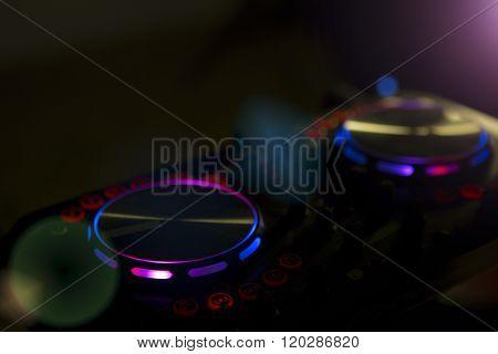 Dj Console Music Party In Nightclub