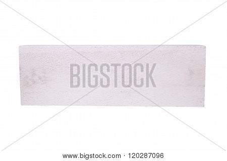 Stack Of White Lightweight Concrete Block, Foamed Concrete Block, Isolated On White