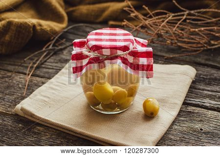 Compote Of Grapes In A Jar