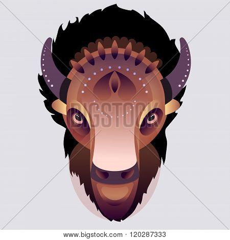 Buffalo - vector illustration