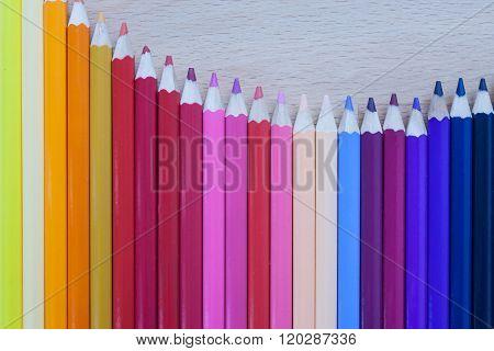 Colorful Multi-color Of Pencil