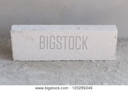 Stack Of White Lightweight Concrete Block, Foamed Concrete Block