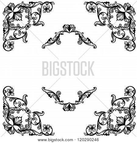Floral Corners Design